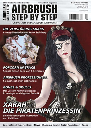 Xarah on the cover of Airbrush magazine 04/2007