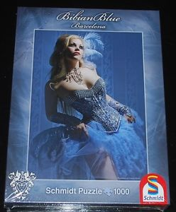 Xarah is available as 1000 pieces puzzle Blue Brigitte of the Bibian Blue series of Schmidt Spiele