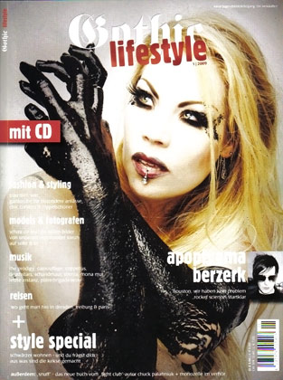 Xarah on the cover of Gothic Lifestyle Magazine
